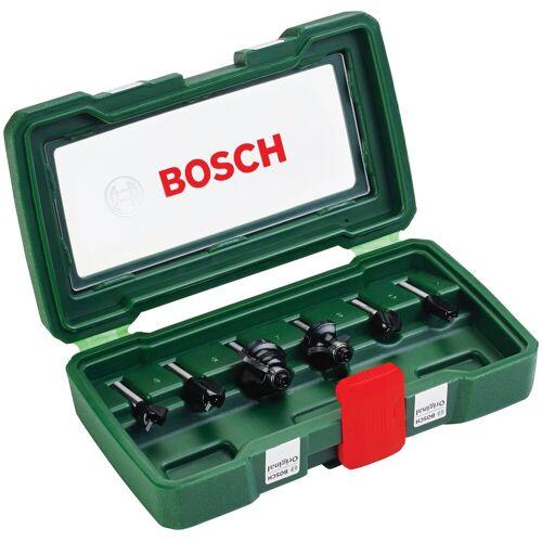 Bosch Fräser-Set , 6-tlg., 6 mm Schaft, grün