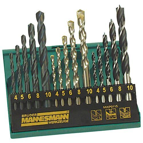 Brüder Mannesmann Werkzeuge Bohrersatz, (Set, 15-tlg)