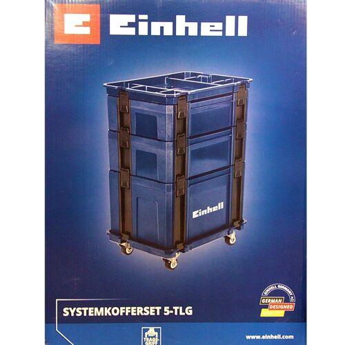 Einhell Werkzeugkoffer »Systemkoffer-Set 5 tlg., Rollwagen Werkze«