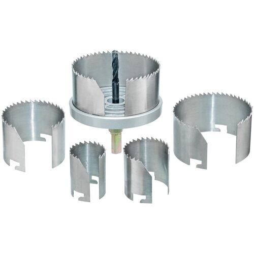 Connex Lochsäge »68-100 mm«, Set, für Rohrdurchführungen, Ventilationsinstallationen und Hohllochbohrungen