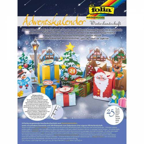 Folia Wandkalender »Adventskalender Winterlandschaft, 25-tlg.«