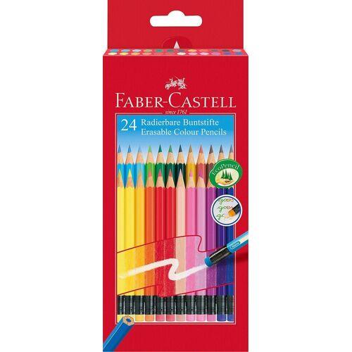 Faber-Castell Dekorierstift »Buntstifte radierbar, 24 Farben«