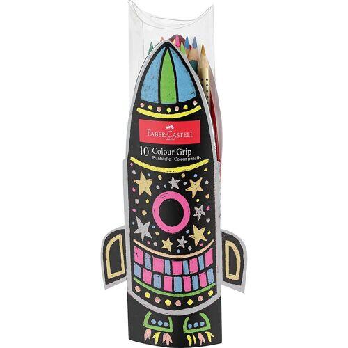 Faber-Castell Buntstift »Buntstifte COLOUR GRIP Rakete Neon, 10 Farben«