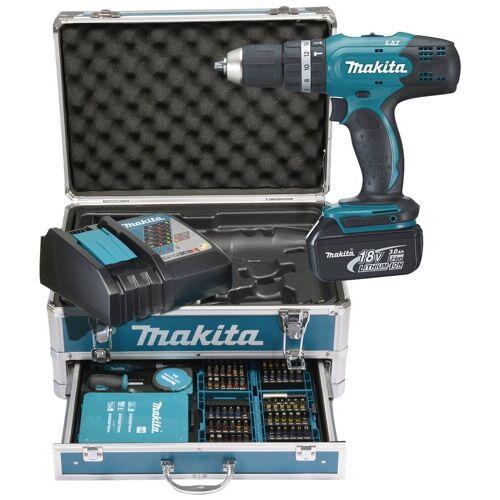 Makita Akku-Schlagbohrschrauber »DHP453RFX2«, max. 1300 U/min, inkl. 2 Akku und Ladegerät