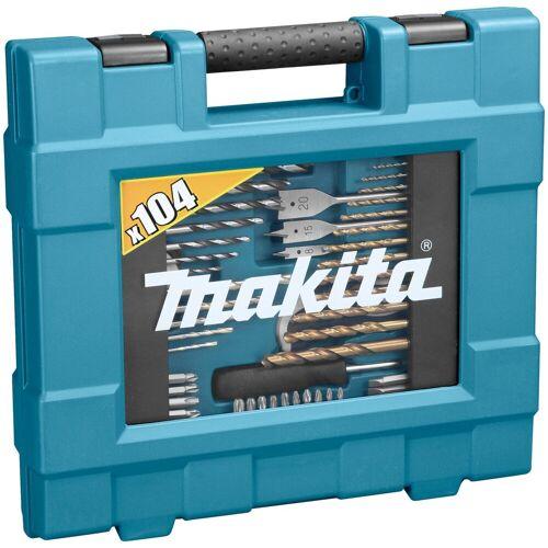 Makita Bohrer-Bit-Set »D-31778«, (104-tlg.), blau