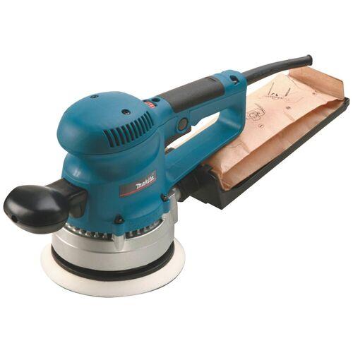 Makita Exzenterschleifer »BO6030JX«, 150 mm inkl. Schleifpapier-Set, blau