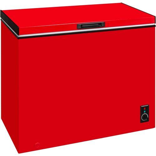 exquisit Gefriertruhe GT 261-5 A+, 98 cm breit, 197 l, rot, Energieeffizienzklasse A+