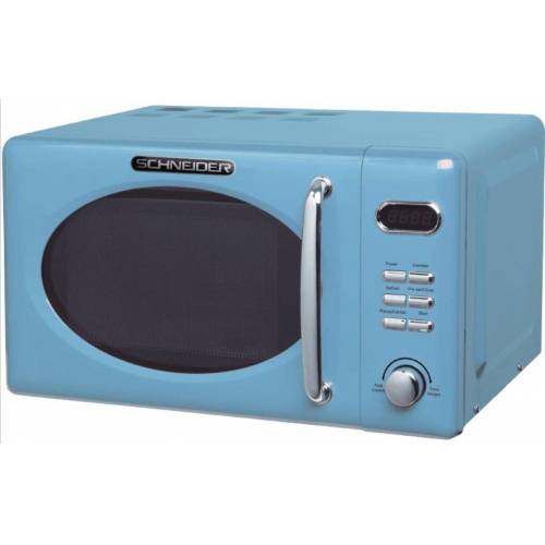 Schneider Mikrowelle MW720 LB blau RETRO Mikrowelle 700Watt 20l nostalgie, 20,00 l