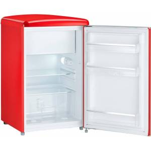 Severin Table Top Kühlschrank RKS 8830, 89,5 cm hoch, 55 cm breit, rot, Energieeffizienzklasse A+++