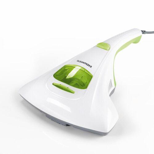 CLEANmaxx Handstaubsauger Milben-Handstaubsauger mit UV-C-Licht weiß/limegreen, 300 Watt, beutellos