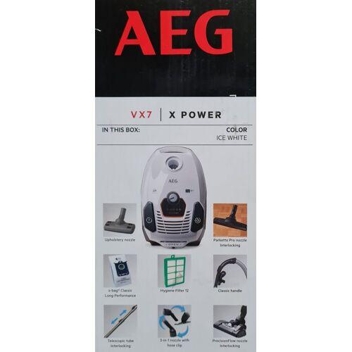 AEG Bodenstaubsauger VX7-2-IW-S X-Power Staubsauger mit Beutel, 650 Watt