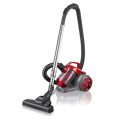 CLEANmaxx Bodenstaubsauger, Zyklon-Staubsauger beutellos rot/grau