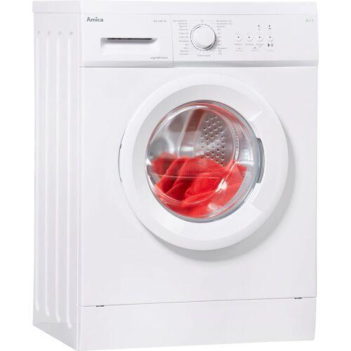 Amica Waschmaschine Slim Line WA 14681 W, 6 kg, 1000 U/Min, unterbaufähig inklusive Unterbaublech, Energieeffizienzklasse A++