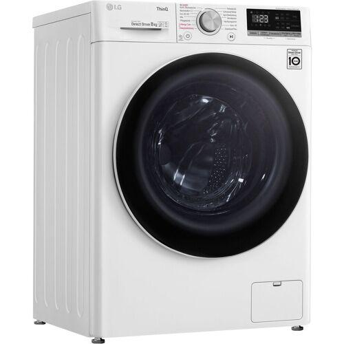 LG Waschmaschine F4WV408S0, 8 kg, 1400 U/min, Energieeffizienzklasse D