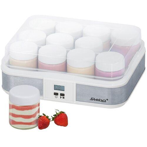 Steba Joghurtbereiter JM 2, 12 Portionsbehälter, je 200 ml, mit 12 Glas-Joghurtbechern