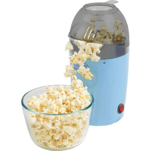 bestron Popcornmaschine Sweet Dreams, Heißluft betrieben, für bis zu 50 g Popcornmais, 1200 Watt, Blau