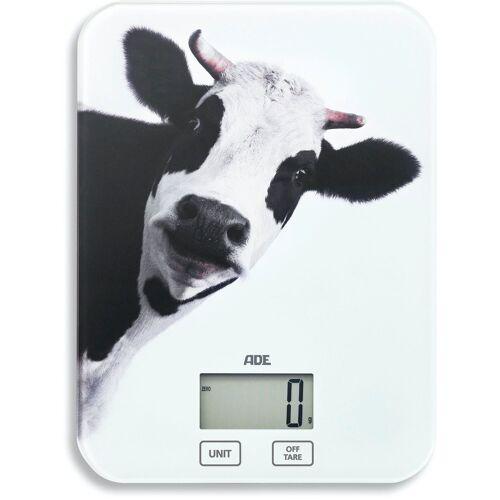 ADE Küchenwaage »KE 1603 Inka«, digitale Waage mit Kuh-Print bis 5kg mit Sensor-Touch, Tara