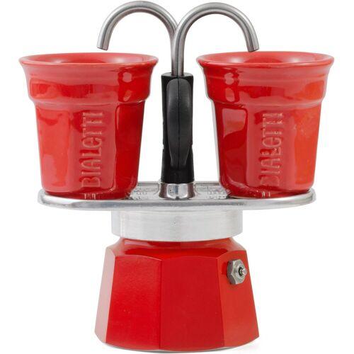 Bialetti Espressokocher Mini Express, 0,09l Kaffeekanne, (1 Espressokocher Mini Express + 2 Espressobecher, 90 ml)