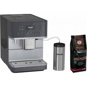 Miele Kaffeevollautomat CM 6350, graphitgrau, mit Isoliermilchbehälter