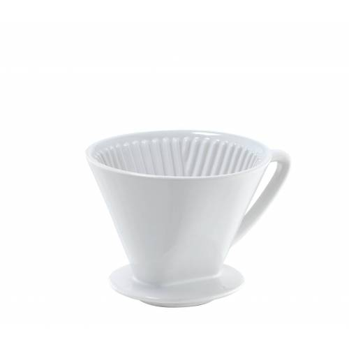 Cilio Kaffeebereiter - Kaffeefilter Gr. 4 Kaffeebereiter Keramik weiß 104943