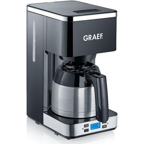 Graef Filterkaffeemaschine FK 512, 1l Kaffeekanne, Korbfilter 1x4, mit Timer und Thermokanne