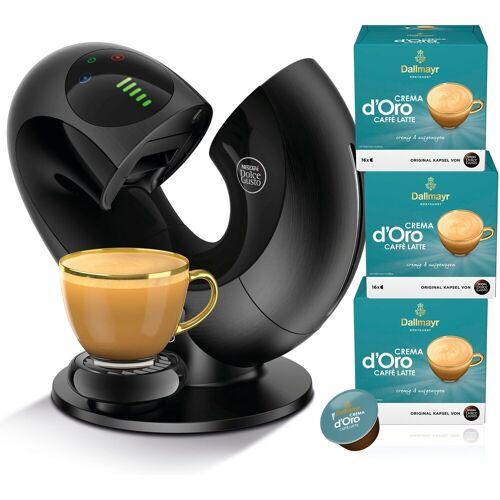 NESCAFÉ® Dolce Gusto® Kapselmaschine Eclipse EDG 737.B, mit 3 Packungen Dallmayr Crema d'Oro Caffè Latte.