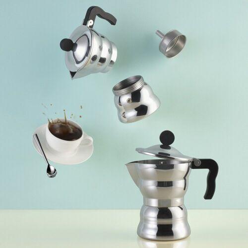 Alessi Espressokocher MOKA Classic 6, Silber
