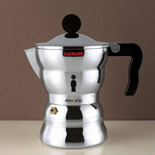 Alessi Espressokocher MOKA Classic 3, Silber