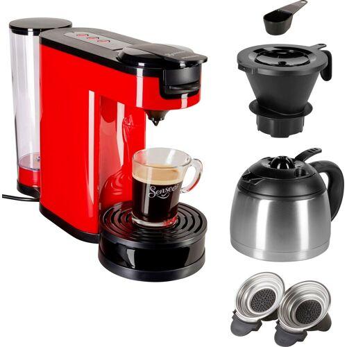 Senseo Kaffeepadmaschine ® Switch HD6592/80, 1l Kaffeekanne, Papierfilter