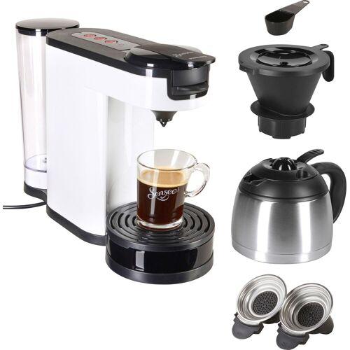 Senseo Kaffeepadmaschine ® Switch HD6592/00, 1l Kaffeekanne, Papierfilter