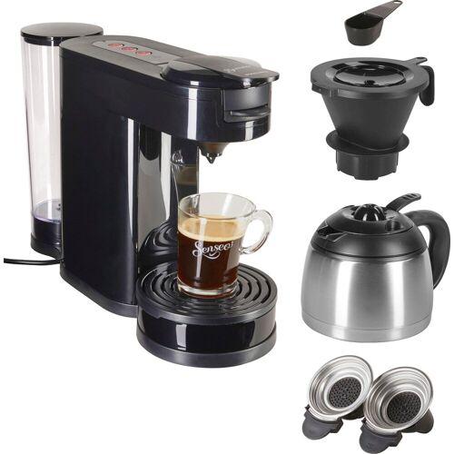 Senseo Kaffeepadmaschine ® Switch HD6592/60, 1l Kaffeekanne, Papierfilter