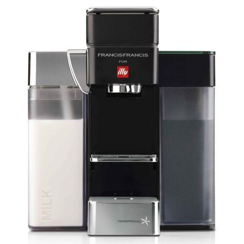 Illy Kapselmaschine FrancisFrancis! Y5 Milk Iperespresso E&C, schwarz