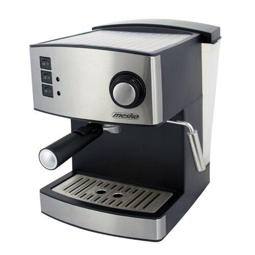 Mesko Filterkaffeemaschine MS-4403, Edelstahl, 15 bar, Milchaufschäumer