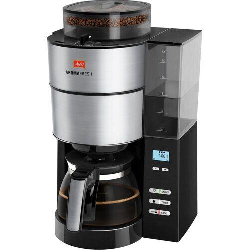 Melitta Kaffeemaschine mit Mahlwerk AromaFresh 1021-01, Filterkaffeemaschine mit integriertem Mahlwerk, Papierfilter 1x4
