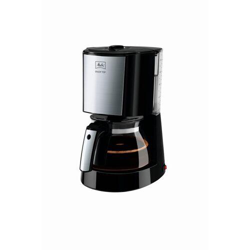 Melitta Filterkaffeemaschine Enjoy Top 1017-04, Filterkaffeemaschine mit Glaskanne, 1,25l Kaffeekanne, Papierfilter 1x4