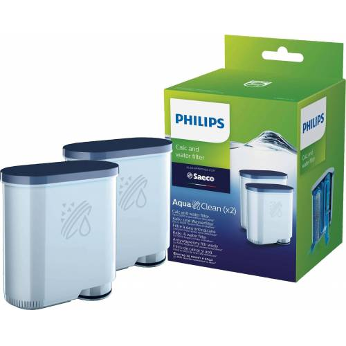 Saeco Wasserfilter AquaClean CA6903/22 für Philips und Kaffeevollautomaten, Doppelpack, Zubehör für Philips Kaffeevollautomaten