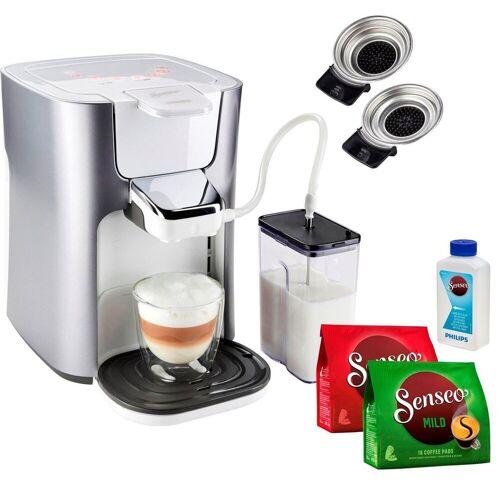 Senseo Kaffeepadmaschine HD6574/20 Latte Duo, inkl. Gratis-Zugaben im Wert von 14,- UVP