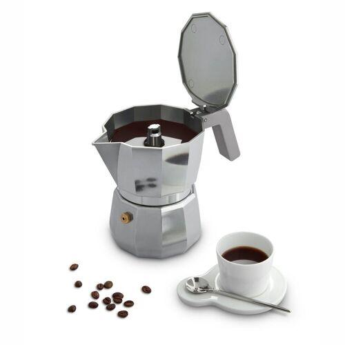 Alessi Espressokocher MOKA modern 1, Silber