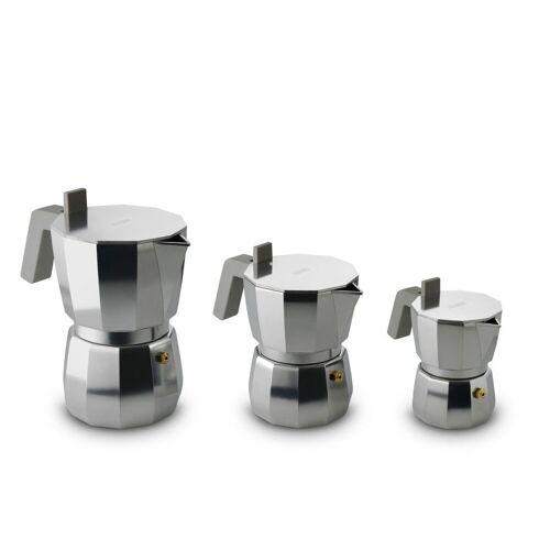 Alessi Espressokocher MOKA modern 3, Silber
