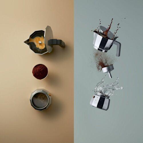 Alessi Espressokocher MOKA modern 6, Silber