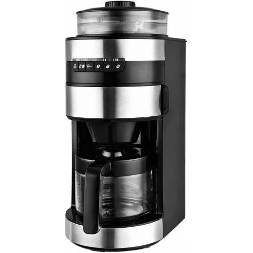 Team Kalorik Kaffeemaschine mit Mahlwerk TKG CCG 1006, 0,75l Kaffeekanne, Permanentfilter