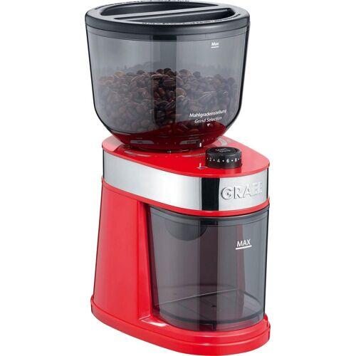 Graef Kaffeemühle CM 203, rot, 130 W, Scheibenmahlwerk, 225 g Bohnenbehälter