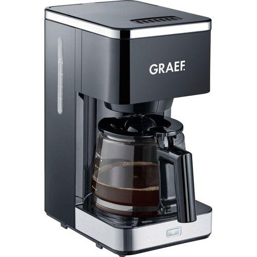 Graef Filterkaffeemaschine FK 402, 1,25l Kaffeekanne, Korbfilter 1x4, mit Glaskanne, schwarz