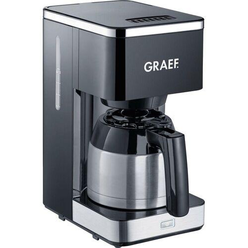 Graef Filterkaffeemaschine FK 412, 1l Kaffeekanne, Korbfilter 1x4, mit Thermokanne, schwarz