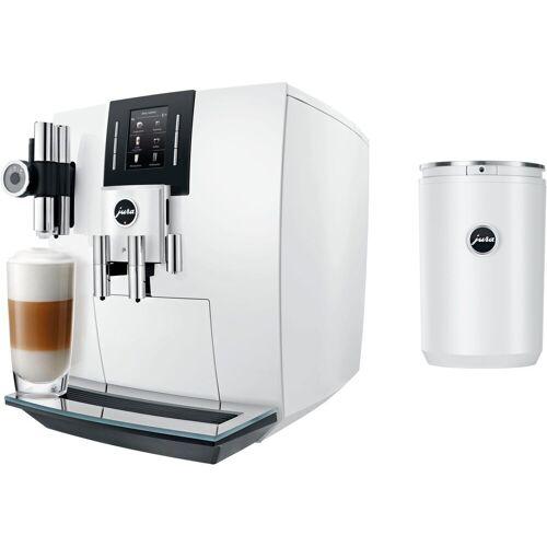 Jura Kaffeevollautomat 15165 J6 Piano White, inkl. Milchbehälter Cool Control im Wert von 169,99 € UVP