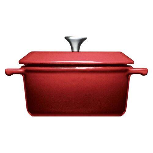 WOLL Kasserolle »2er Set Mini-Kasserollen Ø 10 cm Iron«, Gusseisen, (2-tlg), Rot