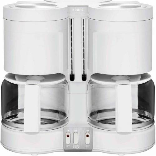 Krups Filterkaffeemaschine KM8501 Doppel-Kaffeemaschine weiß