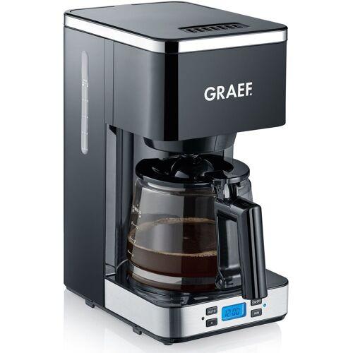 Graef Filterkaffeemaschine FK 502, 1,25l Kaffeekanne, Korbfilter 1x4, mit Timer und Glaskanne