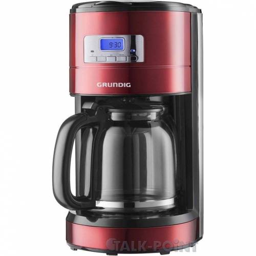 Grundig Filterkaffeemaschine KM 6330 Kaffeemaschine rot/Edelstahl