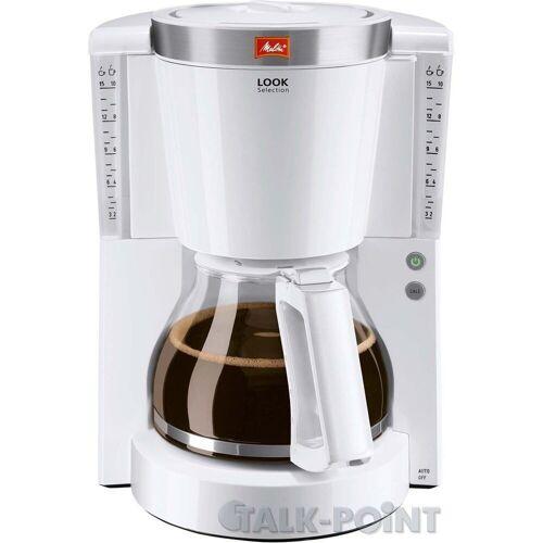 Melitta Filterkaffeemaschine 1011-03 Look Tropfstopp - Glaskanne weiß
